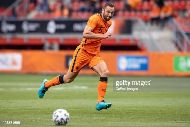 Stefan de vrij of Netherlands Controls the ball during the international friendly match between Netherlands and Georgia at De Grolsch Veste Stadium...