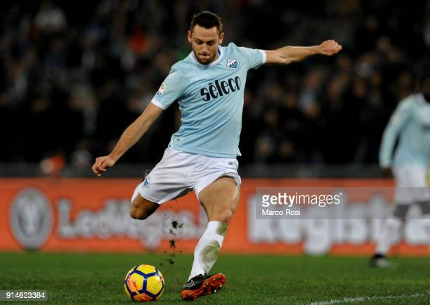 Stefan De Vrij of SS Lazio during the Serie A match between SS Lazio and Genoa at Stadio Olimpico on February 5 2018 in Rome Italy