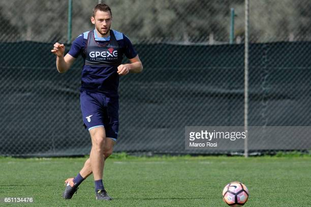 Stefan De Vrij of SS Lazio during the SS Lazio Training Session at the Formello Center in Rome on March 10 2017 in Rome Italy