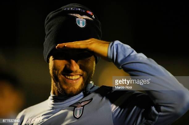 Stefan De Vrij of SS Lazio during the SS Lazio training session on November 22 2017 in Rome Italy