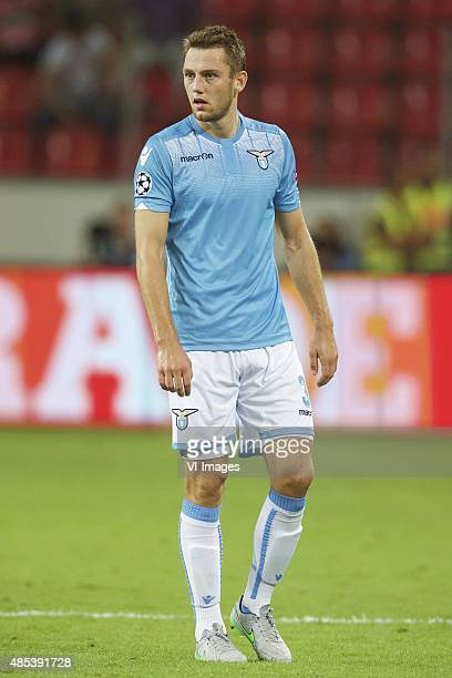 Stefan de Vrij of SS Lazio during the UEFA Champions League playoffs match between Bayer Leverkusen and Lazio Roma on August 26 2015 at the BayArena...
