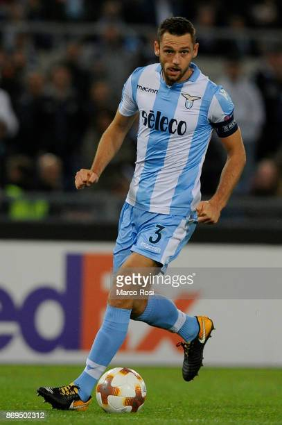Stefan De Vrij of SS Lazio during the UEFA Europa League group K match between Lazio Roma and OGC Nice at Stadio Olimpico on November 2 2017 in Rome...