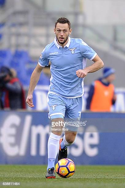 Stefan De Vrij of SS Lazio in action during the Serie A match between SS Lazio and FC Crotone at Stadio Olimpico on January 8 2017 in Rome Italy