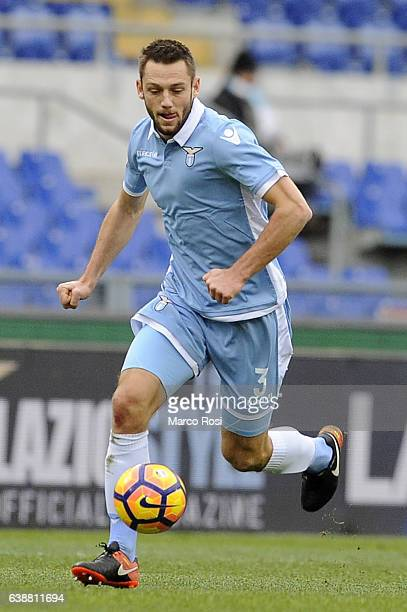 Stefan De Vrij of SS Lazio in action during the Serie A match between SS Lazio and Atalanta BC at Stadio Olimpico on January 15 2017 in Rome Italy