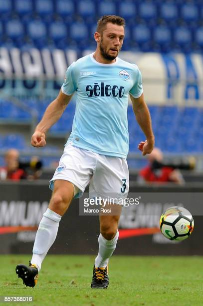 Stefan De Vrij of SS Lazio in action during the Serie A match between SS Lazio and US Sassuolo at Stadio Olimpico on October 1 2017 in Rome Italy