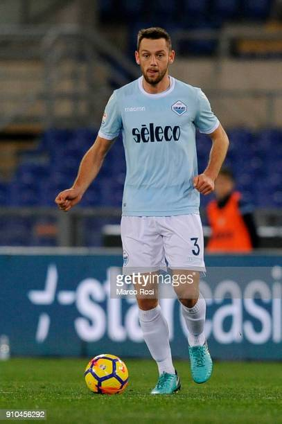 Stefan De Vrij of SS Lazio in action during the Serie A match between SS Lazio and Udinese Calcio on January 24 2018 in Rome Italy