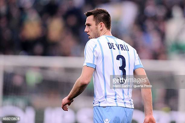 Stefan De Vrij of SS Lazio looks on during the Serie A match between US Sassuolo Calcio and SS Lazio on March 1 2015 in Reggio nell'Emilia Italy