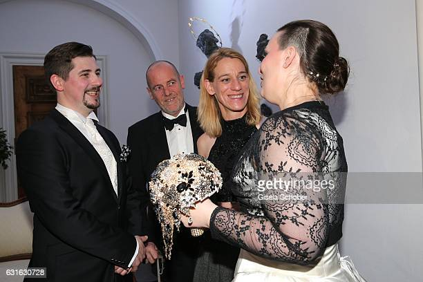 Stefan Dedek, Romuald Ruffing, sister Catherina Ruffing Graefin Bernadotte von Wisborg and bride Diana Graefin Bernadotte von Wisborg during the...