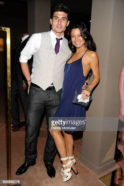 Stefan Dimitrov and Renata Merriam attend JOSEPH ALTUZARRA Private Cocktail Party at THE WEBSTER at The Webster on December 5 2009 in Miami Beach...