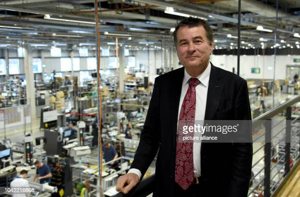 Stefan Draeger the CEO of the German company Draegerwerk Adminstration PLC in an industrial hall in the socalled 'factory of the future' in Luebeck...