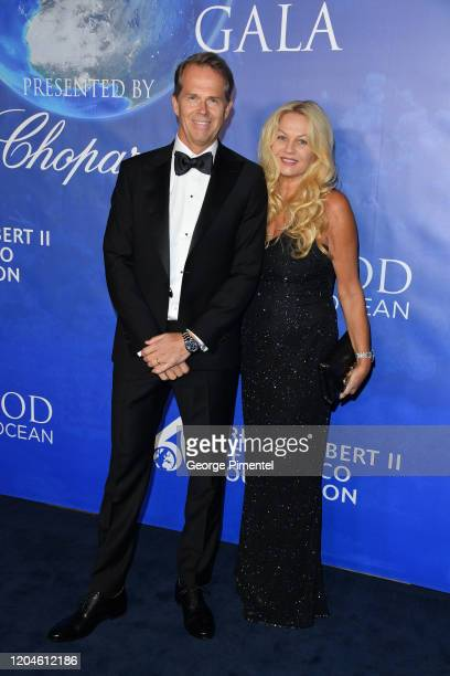 Stefan Edberg and Annette Hjort Olsen attend the 2020 Hollywood For The Global Ocean Gala Honoring HSH Prince Albert II Of Monaco at Palazzo di Amore...