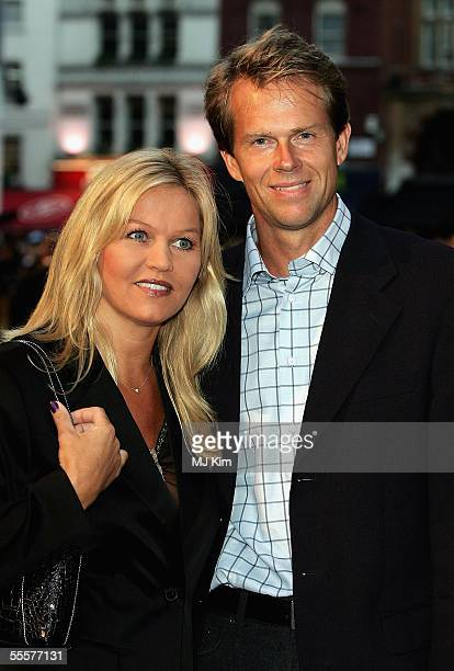 Stefan Edberg and wife Annette arrive at the World Premiere of Goal at the Odeon Leicester Square on September 15 2005 in London England