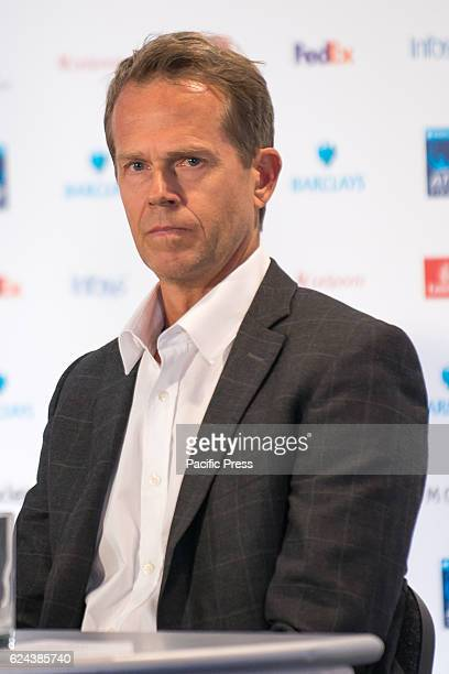 Stefan Edberg at the conference to present the ATP Next Gen Finals 2017 in Milan He is a Swedish former world no 1 professional tennis player