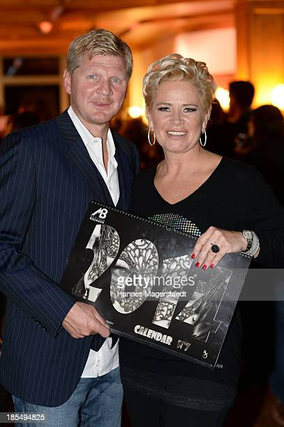 Stefan Effenberg and his wife Claudia EffenbergÊattend the presentation of Manfred Baumann New Calendar 2014 at the King's Hotel Center on October 21...