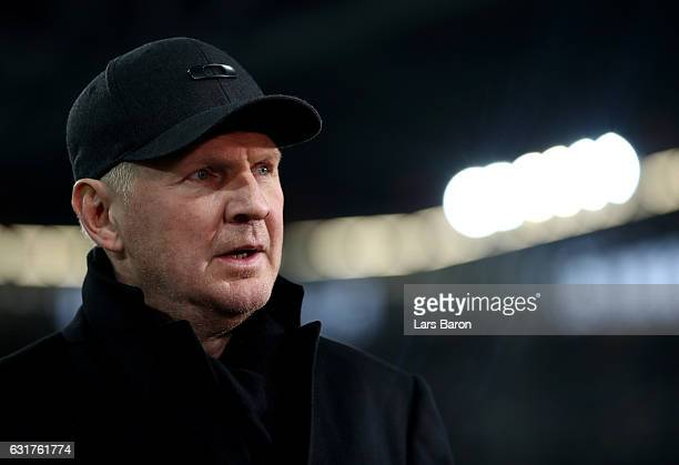 Stefan Effenberg is seen during the Telekom Cup 2017 match between Fortuna Duesseldorf and Bayern Muenchen at EspritArena on January 14 2017 in...