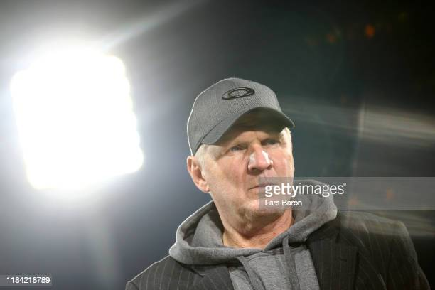 Stefan Effenberg is seen prior to the DFB Cup second round match between VfL Bochum and Bayern Muenchen at Vonovia Ruhrstadion on October 29, 2019 in...