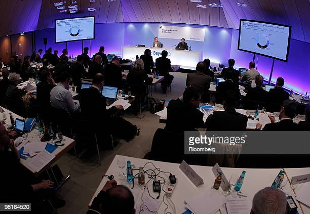Stefan Ermisch chief executive officer of Bayerischen Landesbank center speaks during a news conference in Munich Germany on Wednesday March 31 2010...