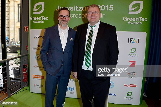 Stefan Franzke and Henrik Tesch attend the GreenTec Awards Jury Meeting 2015 at Microsoft Berlin on February 25 2015 in Berlin Germany