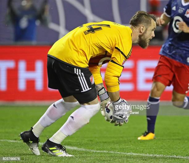 Stefan Frei of the MLS AllStars makes a save against Real Madrid during the 2017 MLS All Star Game at Soldier Field on August 2 2017 in Chicago...