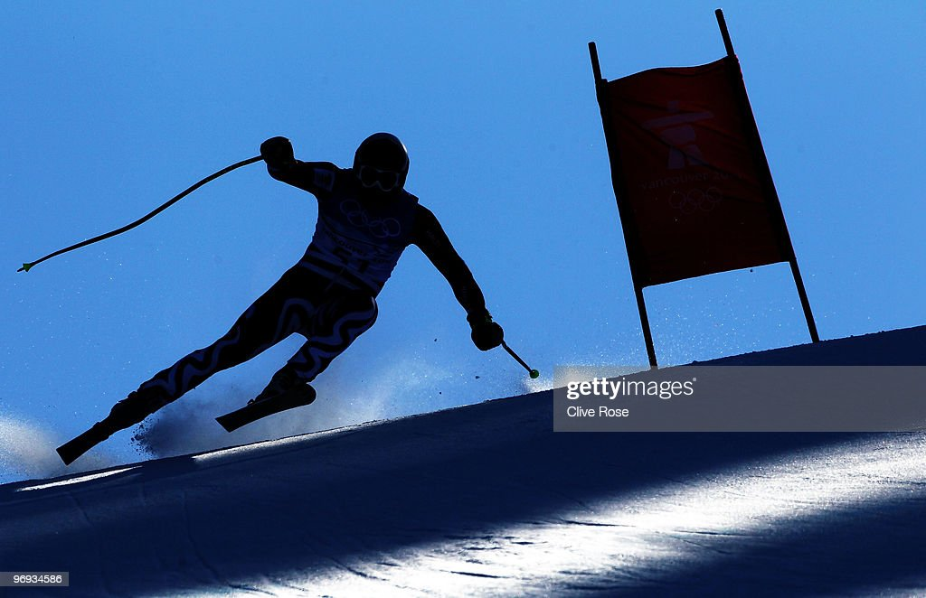 Stefan Georgiev of Bulgaria competes during the Alpine Skiing Men's Super Combined Downhill on day 10 of the Vancouver 2010 Winter Olympics at Whistler Creekside on February 21, 2010 in Whistler, Canada.