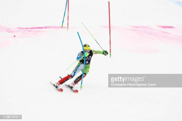 Stefan Hadalin of Slovenia competes during the Audi FIS Alpine Ski World Cup Men's Alpine Combined on February 22 2019 in Bansko Bulgaria