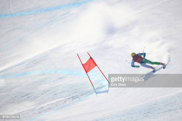 Stefan Hadalin of Slovenia makes a run during the Men's Downhill 3rd Training on day one of the PyeongChang 2018 Winter Olympic Games at Jeongseon...