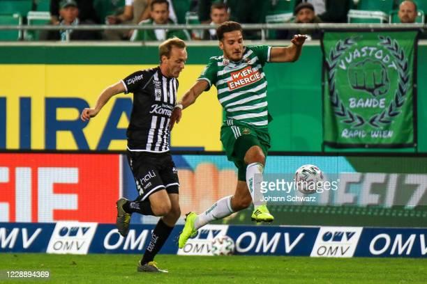 Stefan Haudum of LASK and Ercan Kara of Rapid during the tipico Bundesliga match between SK Rapid Wien and LASK at Allianz Stadion on October 4 2020...