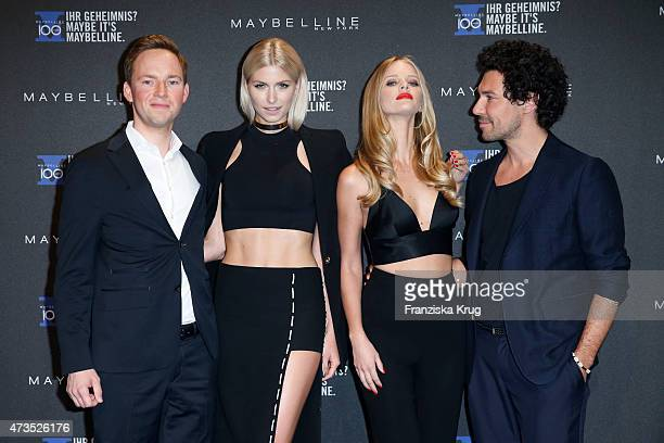 Stefan Heidrich Lena Gercke Marloes Horst and Boris Entrup attend the Maybelline 100th anniversary celebrations on May 15 2015 in Berlin Germany