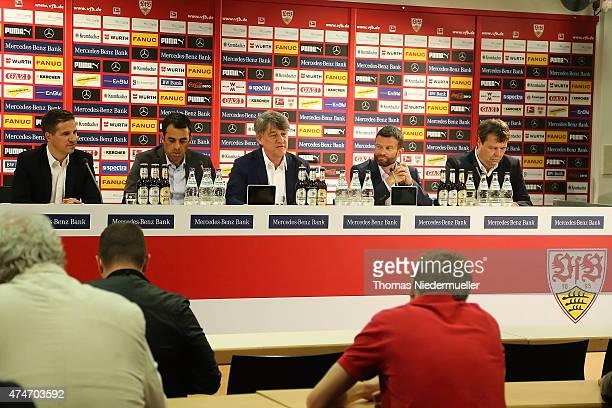 Stefan Heim financial manager Robin Dutt sports manager Bernd Wahler president Jochen Roettgermann marketing manger and Oliver Schraft communication...