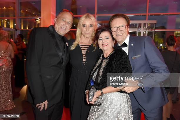 Stefan Hippler, Wolfgang Lippert, his wife Gesine Lippert and Viola Klein attend the 12th Hope Charity Gala at Kulturpalast on October 28, 2017 in...