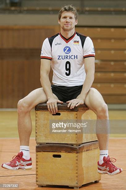 Stefan Huebner poses during the photo call of the German National team on October 30 2006 in Heidelberg Germany