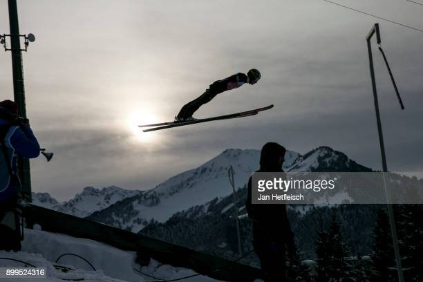 Stefan Hula of Poland competes during the training round for the Four Hills Tournament on December 29 2017 in Oberstdorf Germany