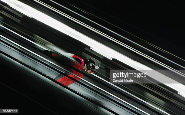 Stefan Hula of Poland competes in the Normal Hill Individual Ski Jumping Final on Day 2 of the 2006 Turin Winter Olympic Games on February 12 2006 in...