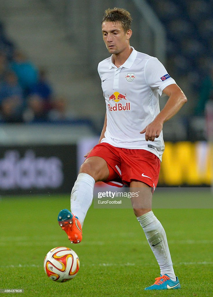 Stefan Ilsanker of FC Salzburg in action during the UEFA Europa League Group D match between FC Salzburg and Celtic FC on September 18, 2014 in Salzburg,Austria.