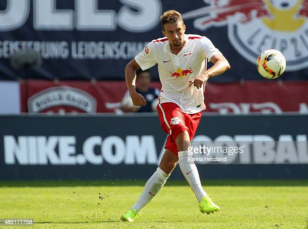 Stefan Ilsanker of Leipzig during the Second League match between RB Leipzig and FC StPauli at RedBull Arena on August 23 2015 in Leipzig Germany