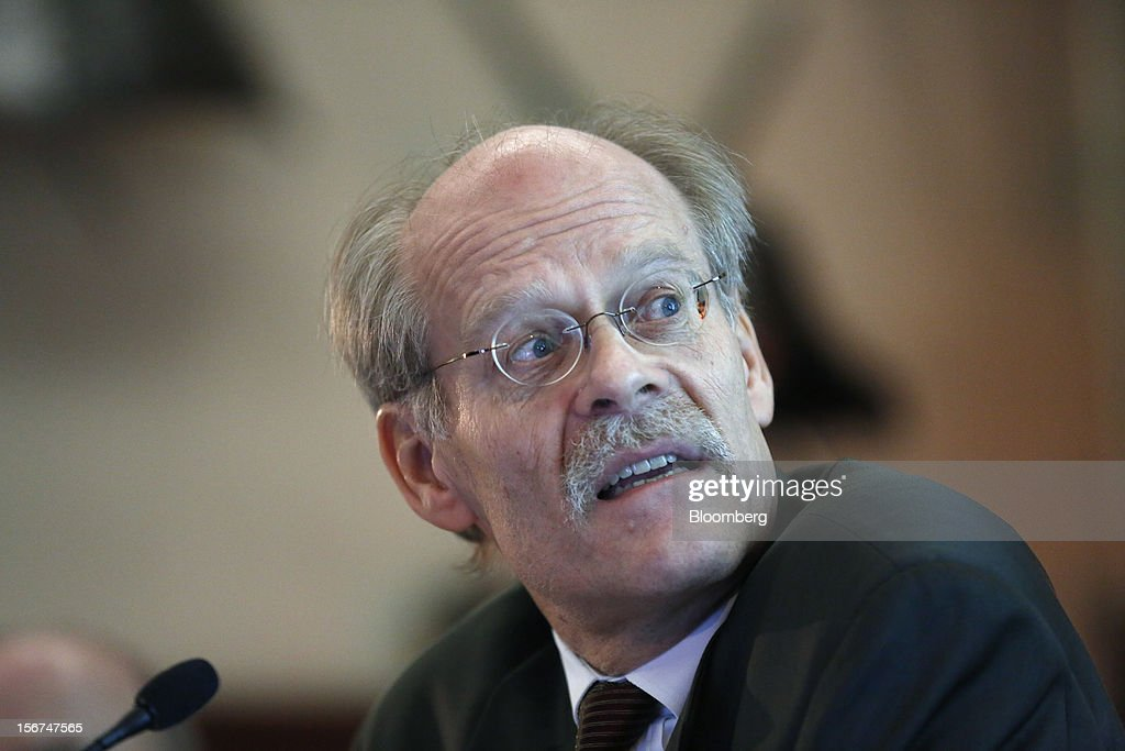 Stefan Ingves, governor of Sweden's central bank, speaks during an event hosted by the Official Monetary and Financial Institutions Forum (OMFIF) in London, U.K., on Tuesday, Nov. 20, 2012. Sweden's economy is stagnating as a recession in the euro area saps export demand, prompting companies such as Ericsson AB to cut jobs. Photographer: Simon Dawson/Bloomberg via Getty Images