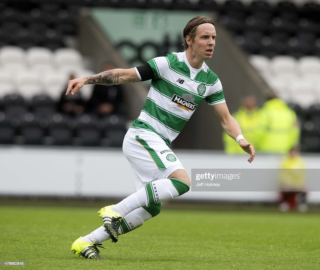 Stefan Johansen of Celtic at the Pre Season Friendly between Celtic and FK Dukla Praha at St Mirren Park on July 04, 2015 in Paisley, Scotland.