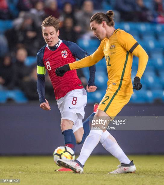 Stefan Johansen of Norway during International Friendly between Norway v Australia at Ullevaal Stadion on March 23 2018 in Oslo Norway