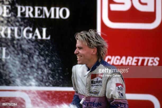 Stefan Johansson Grand Prix of Portugal Autodromo do Estoril 24 September 1989 Podium finish for Stefan Johansson in the 1989 Grand Prix of Portugal