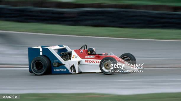 Stefan Johansson of Sweden in action, driving a Spirit 201 with a Honda RA163-E 1.5 V6t engine for Spirit Racing, during the Marlboro Race of...