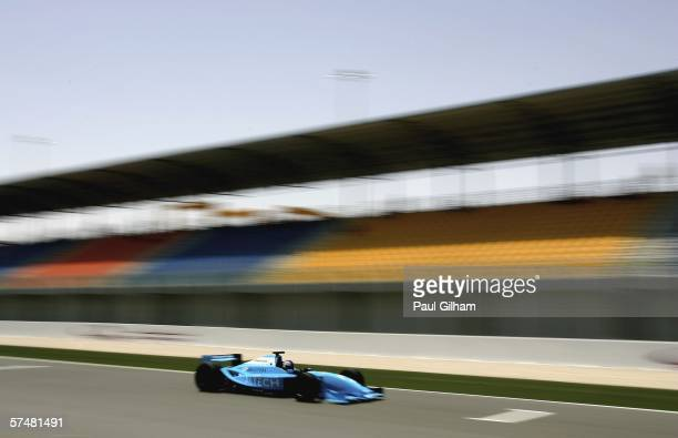 Stefan Johansson of Sweden in action during practice ahead of the Grand Prix Masters at Losail International Circuit on April 28 in Doha Qatar