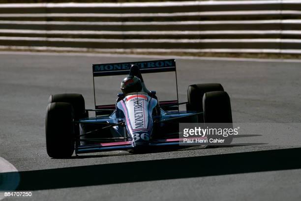 Stefan Johansson OnyxFord ORE1 Grand Prix of Portugal Autodromo do Estoril 24 September 1989 Podium finish for Stefan Johansson in the 1989 Grand...