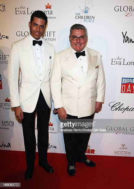 Stefan John Charles and Nunzio Alfredo D'Angieri attend the 'Global Gift Gala' 2013 presented by Eva Longoria at Carlton Hotel on May 19 2013 in...