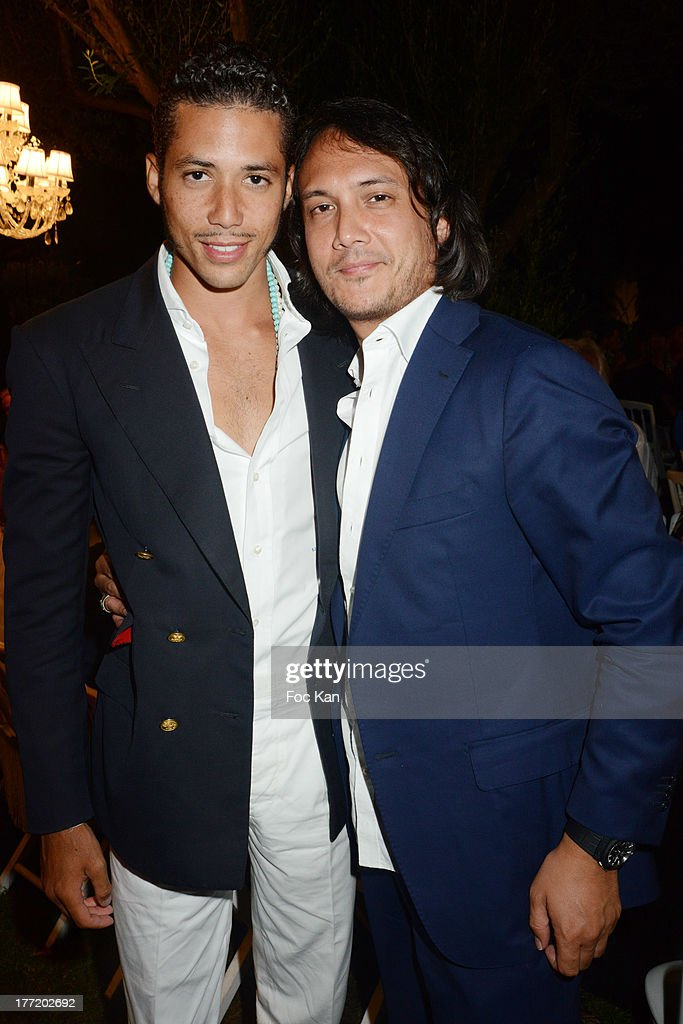 Stefan John Charles D'Angieri and David Kane attend the Massimo Gargia's Birthday Dinner at Moulins de Ramatuelle on August 21, 2013 in Saint Tropez, France.