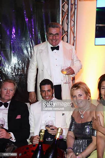 Stefan John Charles Nunzio Alfredo D'Angieri and guests attend the Eva Longoria Global Gift Gala after party hosted by Nikki Beach Cannes during The...