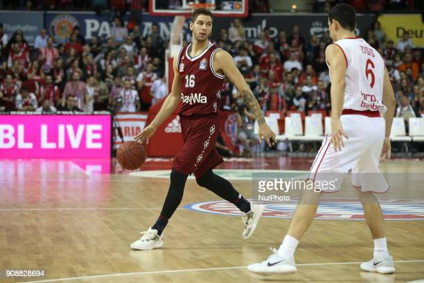 Stefan Jovic of Bayern Muenchen during the Quarterfinal match in the BBL Pokal 2017/18 between FC Bayern Basketball and Brose Baskets Bamberg at the...