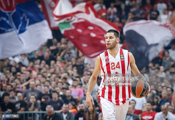 Stefan Jovic of Crvena Zvezda in action during the 2016/2017 Turkish Airlines EuroLeague Regular Season Round 3 game between Crvena Zvezda MTS...
