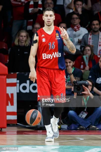 Stefan Jovic of FC Bayern Munich in action during the Turkish Airlines EuroLeague match between FC Bayern Munich and Khimki Moscow Region at on...