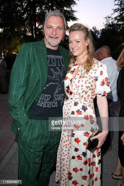 Stefan Juergens and Helene Kowalsky during the Bavaria Film Reception One Hundred Years in Motion on the occasion of the 100th anniversary of the...