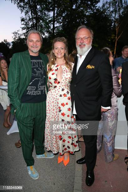 Stefan Juergens and Helene Kowalsky Georg Seitz during the Bavaria Film Reception One Hundred Years in Motion on the occasion of the 100th...